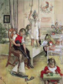 Carl Larsson, Christmas Morning, 1894