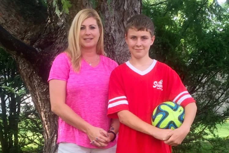 Tracy and Dylan Kistemaker. PHOTO: KISTEMAKER FAMILY