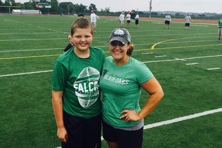 Kimberly Atnip of Wardsville, Mo., and her son Nolan, 14. PHOTO: KIM CLOSSER
