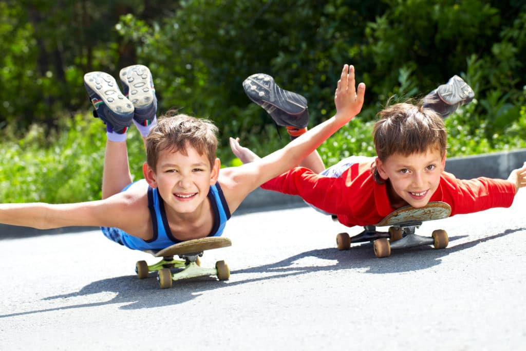 home coaching, kids on skateboards