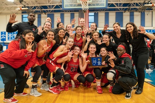 The Bound Brook High (N.J.) girls basketball team has won five consecutive sectional championships while taking steps to limit injuries. Alexander Lewis / MyCentralJersey/USA TODAY Sports Network